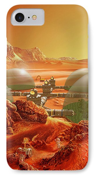 Mars Colony Phone Case by Don Dixon