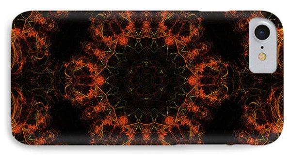 Mars In Fire Mandala 27 IPhone Case by Julia Bagryanskaya