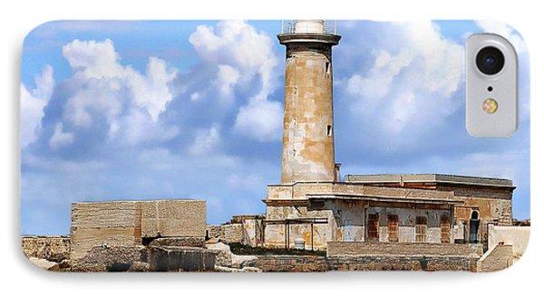 Marsala Lighthouse IPhone Case by Anthony Dezenzio