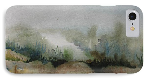 IPhone Case featuring the painting Marsh by Anna  Duyunova