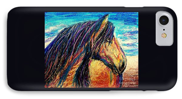 Marsh Tacky Wild Horse IPhone Case by Patricia L Davidson