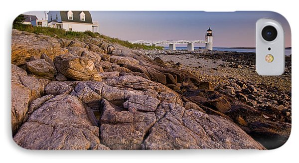 Marshal Point Light Sunset IPhone Case by Susan Cole Kelly
