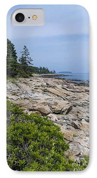 Marshall Ledge Looking Downeast IPhone Case by Patrick Fennell
