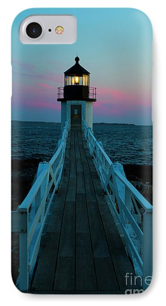 Marshall Point Lighthouse At Sunset IPhone Case