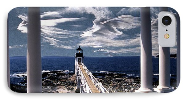 Marshall Point Lighthouse Maine Phone Case by Skip Willits