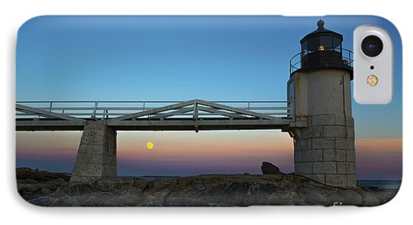 Marshall Point Lighthouse With Full Moon IPhone Case