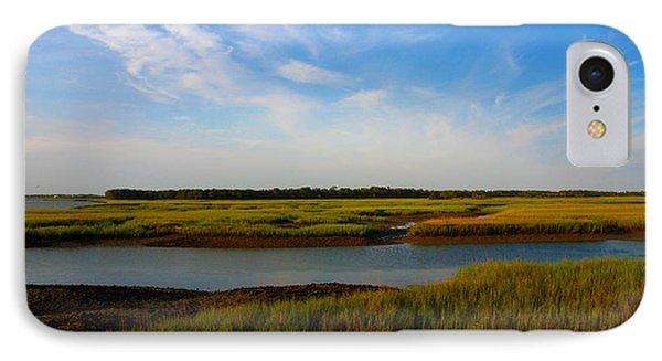 Marshland Charleston South Carolina Phone Case by Susanne Van Hulst