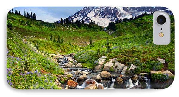 Martha Creek Wildflowers IPhone Case by Mike  Dawson