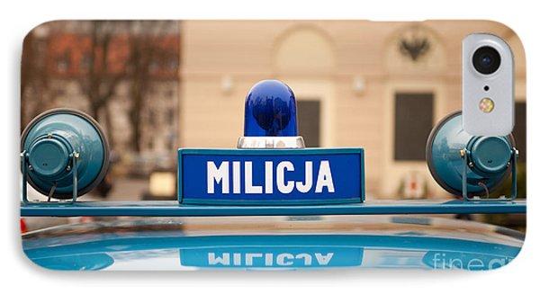 Martial Law Militia Blue Car Cherry IPhone Case by Arletta Cwalina