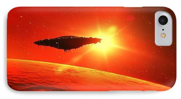 Martian Voyage By Raphael Terra IPhone Case by Raphael Terra