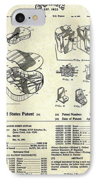 Martin Guitar Patent Art IPhone Case