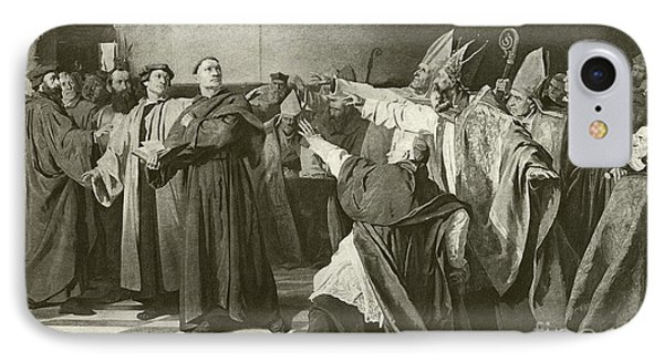 Martin Luther Before The Council Of Worms  IPhone Case