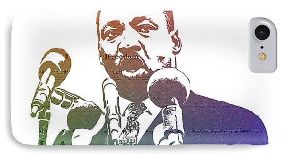 Martin Luther King Jr IPhone Case by Dan Sproul
