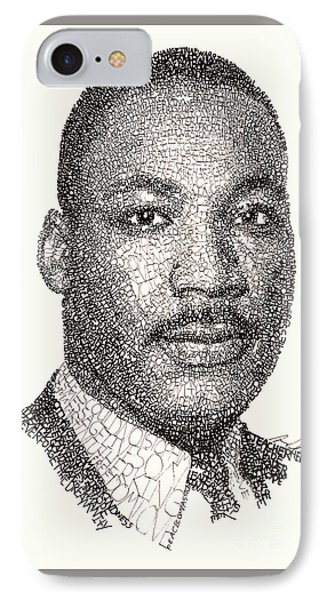 Martin Luther King Jr IPhone Case by Michael Volpicelli