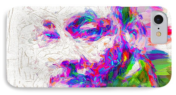 Martin Luther King Jr Mlk Painted Digitally IPhone Case by David Haskett