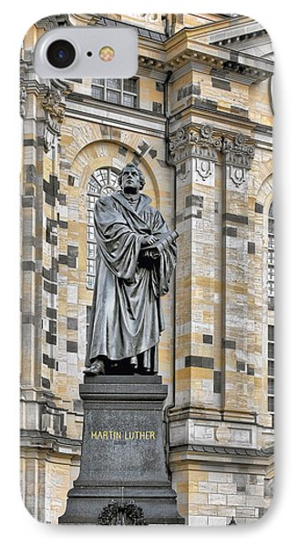 Martin Luther Monument Dresden Phone Case by Christine Till