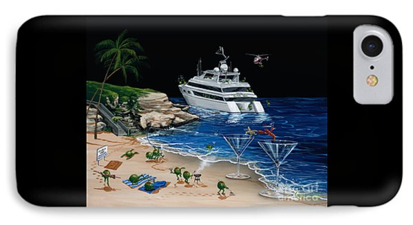 Helicopter iPhone 7 Case - Martini Cove La Jolla by Michael Godard