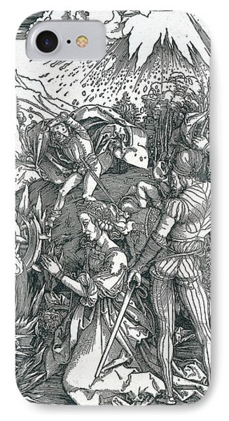 Martyrdom Of Saint Catherine IPhone Case by Albrecht Durer