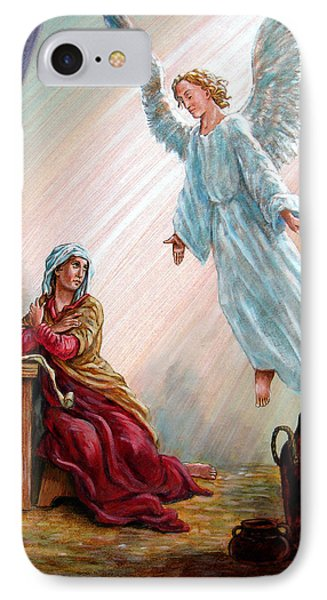 Mary And Angel Phone Case by John Lautermilch