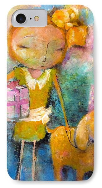 Mary Had A Little Dog IPhone Case by Eleatta Diver