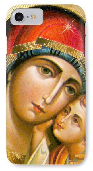 Mary Icon IPhone Case by Munir Alawi