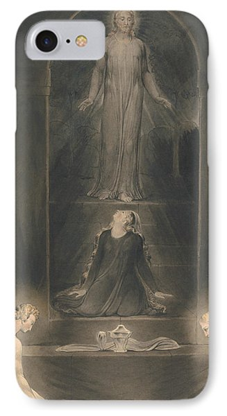 Mary Magdalen At The Sepulchre IPhone Case by William Blake