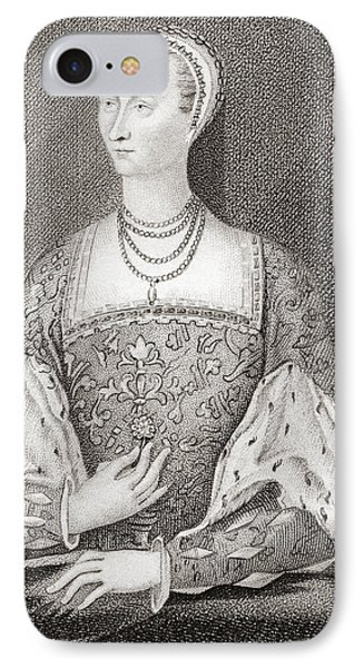 Mary Of Guise, 1515 IPhone Case by Vintage Design Pics