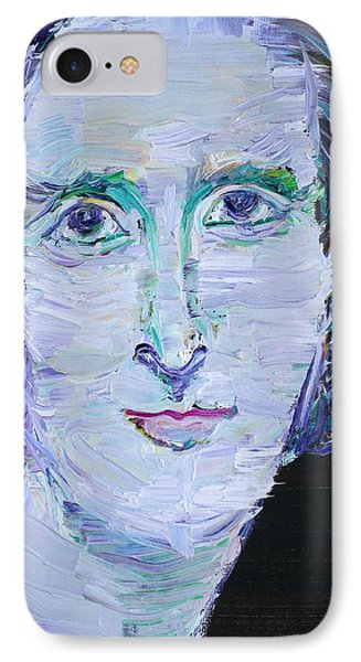 IPhone Case featuring the painting Mary Shelley - Oil Portrait by Fabrizio Cassetta