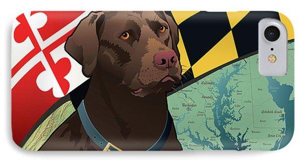 Maryland Chocolate Lab IPhone Case