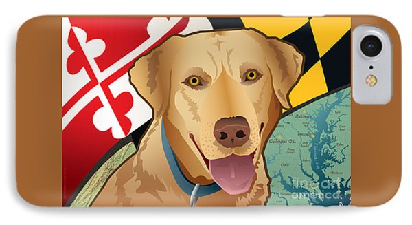 Maryland Yellow Lab IPhone Case by Joe Barsin