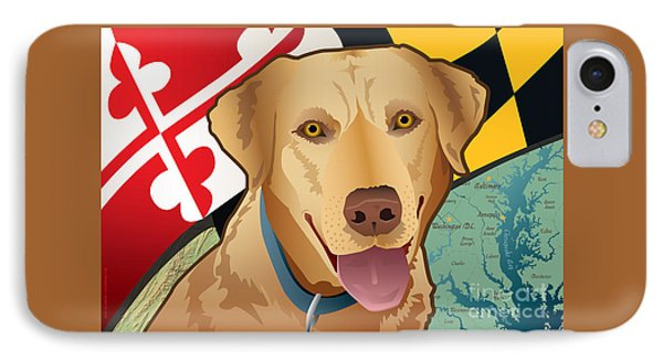 Maryland Yellow Lab IPhone Case