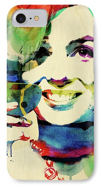Marilyn And Her Drink IPhone Case by Mihaela Pater
