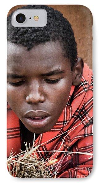 IPhone Case featuring the photograph Masai Firemaker by Karen Lewis