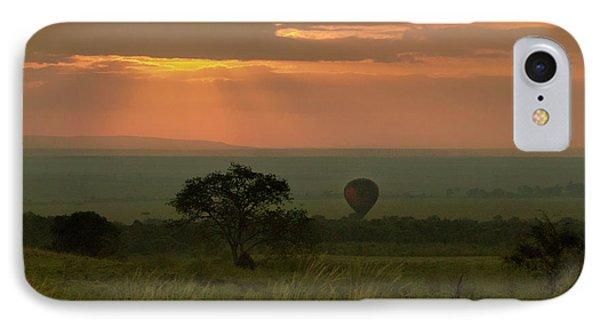 IPhone Case featuring the photograph Masai Mara Balloon Sunrise by Karen Lewis