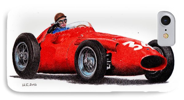 Maserati 250f Juan Manuel Fangio 1958 IPhone Case by Ugo Capeto