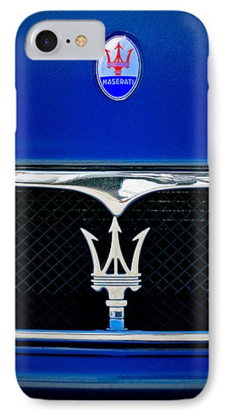 Maserati Hood - Grille Emblems IPhone Case by Jill Reger