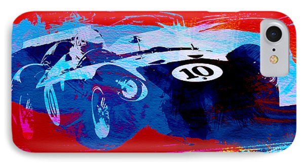 Maserati On The Race Track 1 IPhone Case by Naxart Studio