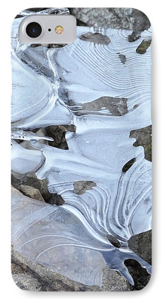 IPhone Case featuring the photograph Ice Mask Abstract by Glenn Gordon