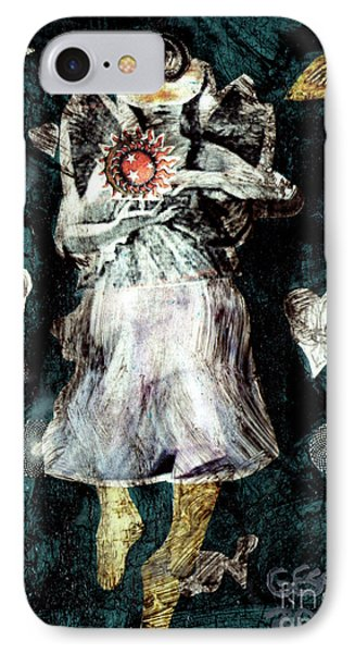 Masked Angel Holding The Sun IPhone Case by Genevieve Esson