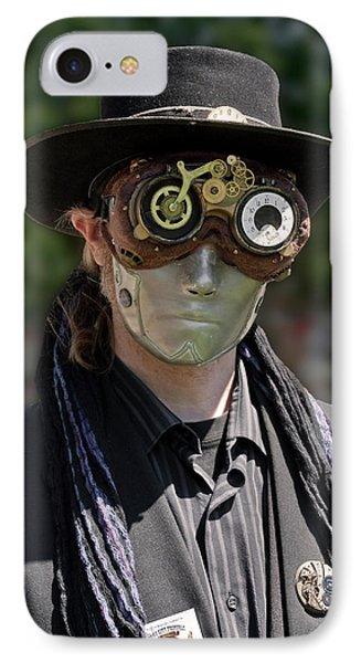 Masked Man - Steampunk IPhone Case by Betty Denise