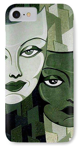Masks Verde IPhone Case by Tara Hutton