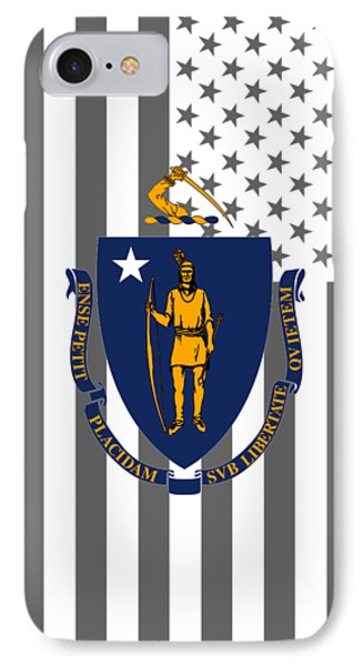 Massachusetts State Flag Graphic Usa Styling IPhone Case by Garaga Designs