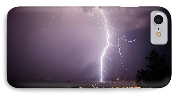IPhone Case featuring the photograph Massive Lightning Storm by Ron Chilston