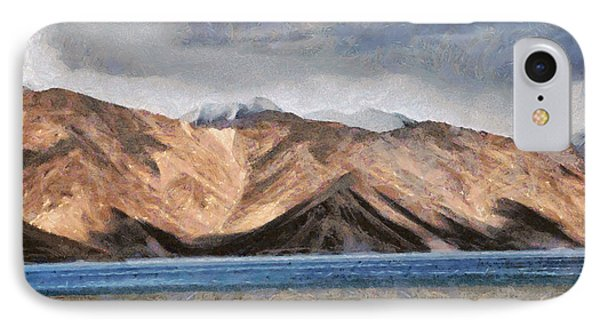 Massive Mountains And A Beautiful Lake IPhone Case by Ashish Agarwal