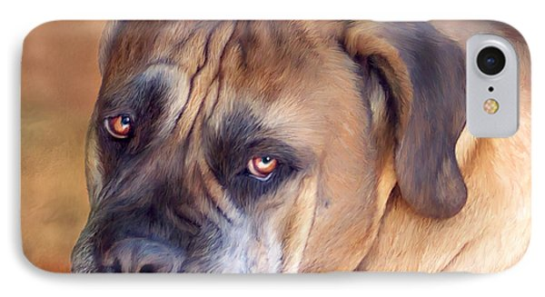 Mastiff Portrait Phone Case by Carol Cavalaris
