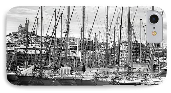 Masts In The Harbor Phone Case by John Rizzuto