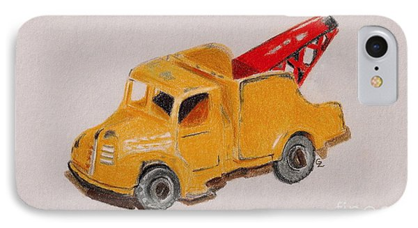 Matchbox Tow Truck IPhone Case by Glenda Zuckerman