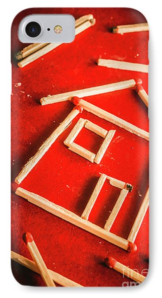 Matchstick Houses IPhone Case