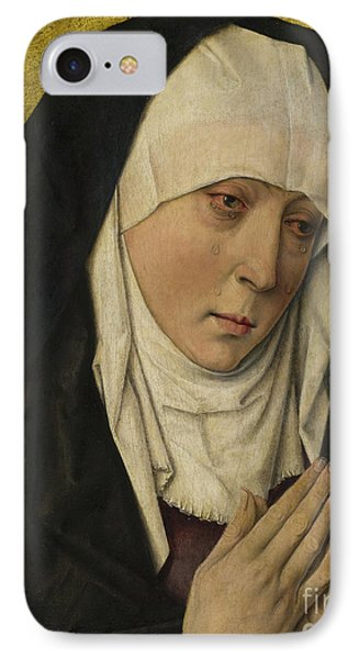 Mater Dolorosa  Sorrowing Virgin IPhone Case by Dieric the Elder Bouts
