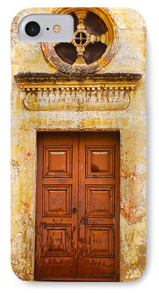 Matera Church Door IPhone Case by Rob Tullis